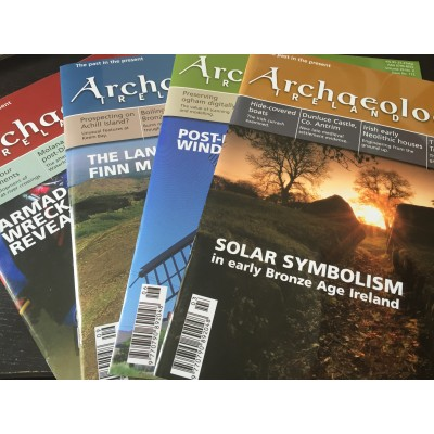Archaeology Ireland back issues -the 4 issues of 2015 to Ireland and N. Ireland