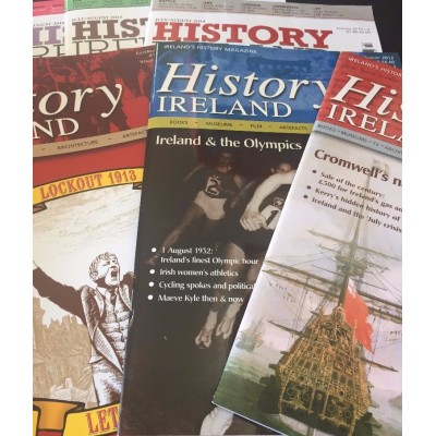 History Ireland - Retro Reads - 6 random back issues in tote bag.  FREE Delivery Worldwide