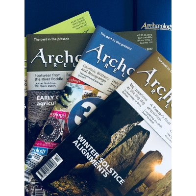 Archaeology Ireland 4 issues from 2017 with a FREE Binder