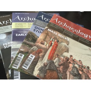 Archaeology Ireland back issues -the 4 issues of 2014 - Ireland and N. Ireland