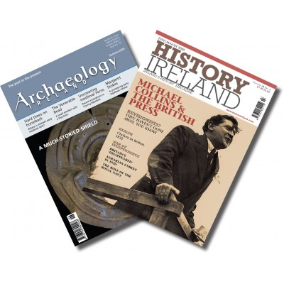 History Ireland & Archaeology Ireland combination - 1 year subscription to both to Ireland or N. Ireland